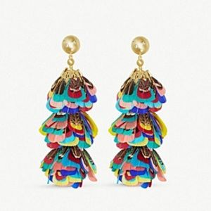 Kendra Scott Lenni Multi Color Feather Earrings